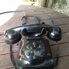 Teléfonos: TELÉFONO SOBREMESA BAQUELITA INTERIOR, AÑOS 50´. Lote 53797488