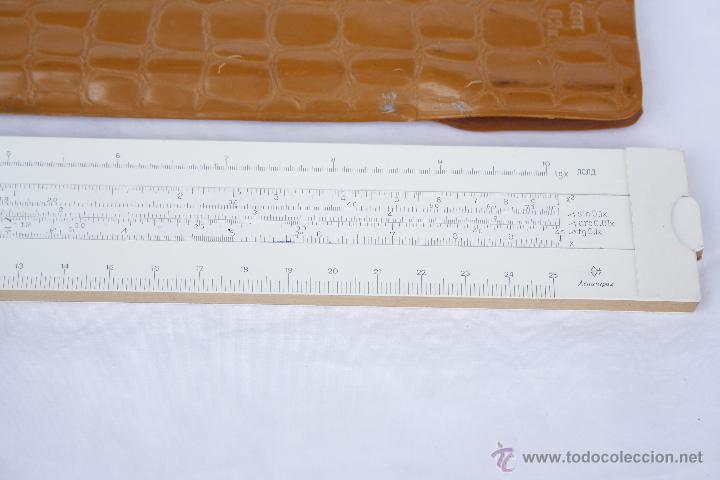 Antigüedades: Regla de cálculo - Leningrad - año 1975 en funda original. - Foto 4 - 53810709