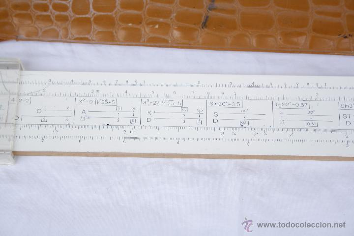 Antigüedades: Regla de cálculo - Leningrad - año 1975 en funda original. - Foto 7 - 53810709