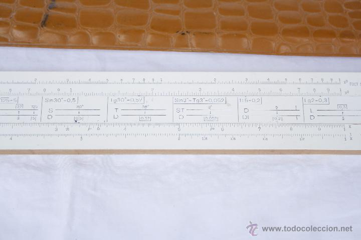 Antigüedades: Regla de cálculo - Leningrad - año 1975 en funda original. - Foto 8 - 53810709
