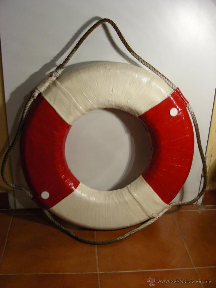 Antigüedades: Flotador salvavidas de club náutico, siglo XIX - Foto 2 - 53812837