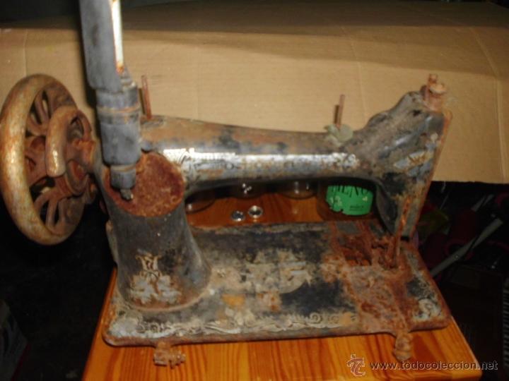 Antigüedades: Antigua maquina de coser singer restaurar - Foto 2 - 53815495