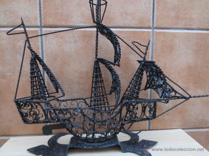 Barco decorativo en hierro forjado comprar objetos - Antiguedades de barcos ...