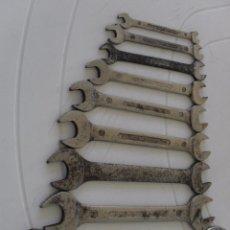 Antigüedades: LOTE DE VARIAS LLAVES FIJAS ,SON 10 . Lote 53869648
