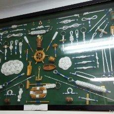 Antigüedades: CUADRO - NUDOS MARINEROS ARTESANAL. Lote 53881448