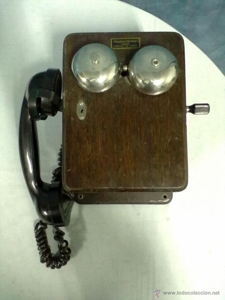 TELEFONO ESTACION TREN STANDAR ELECTRICA MADRID MAGNETO FERROCARRIL (Antigüedades - Técnicas - Teléfonos Antiguos)