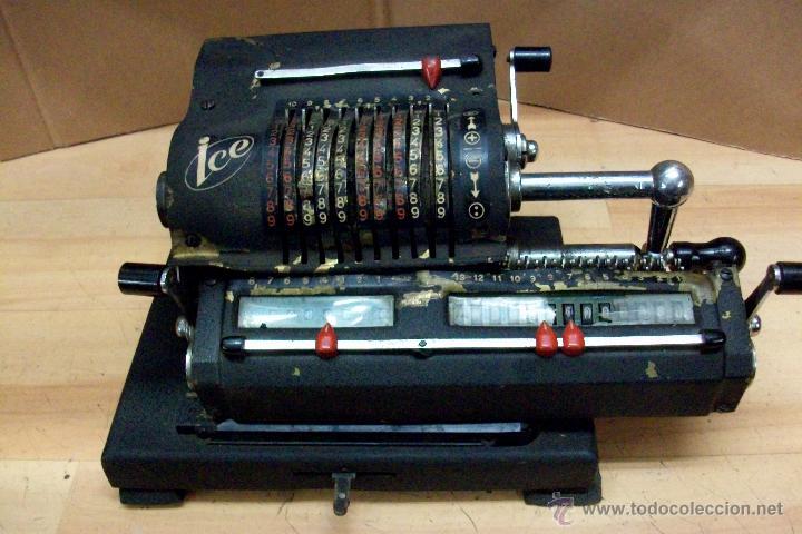 ANTIGUA CALCULADORA MARCA ICE-AÑO 1947 (Antigüedades - Técnicas - Aparatos de Cálculo - Calculadoras Antiguas)