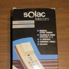 Teléfonos: TELEFONO GÓNDOLA SOLAC TELECOM P120 (CON EMBALAJE COMPLETO). Lote 54000003