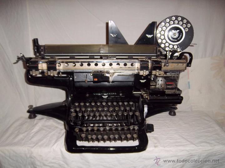 ESPECTACULAR MÁQUINA DE ESCRIBIR ALEMANA CONTINENTAL RAPIDUS (AÑOS 30) (Antigüedades - Técnicas - Máquinas de Escribir Antiguas - Continental)
