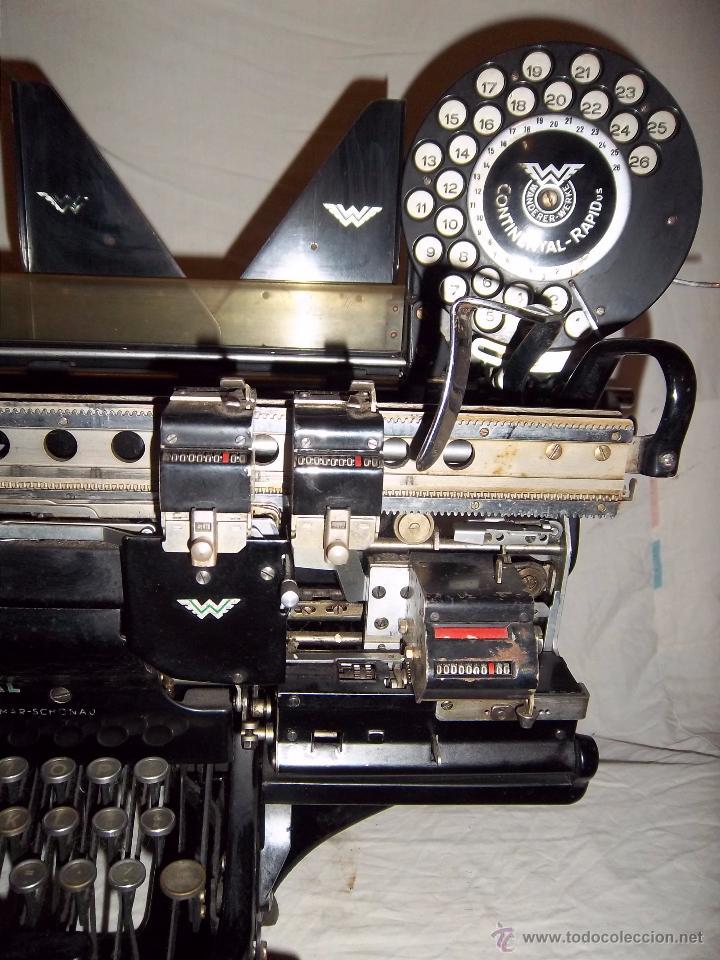 Antigüedades: Espectacular máquina de escribir alemana Continental Rapidus (Años 30) - Foto 2 - 54001608