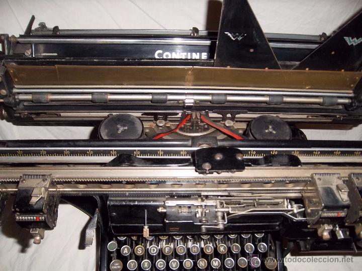 Antigüedades: Espectacular máquina de escribir alemana Continental Rapidus (Años 30) - Foto 3 - 54001608