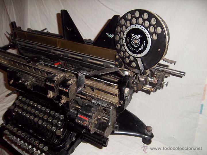 Antigüedades: Espectacular máquina de escribir alemana Continental Rapidus (Años 30) - Foto 5 - 54001608