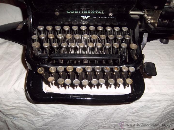 Antigüedades: Espectacular máquina de escribir alemana Continental Rapidus (Años 30) - Foto 6 - 54001608
