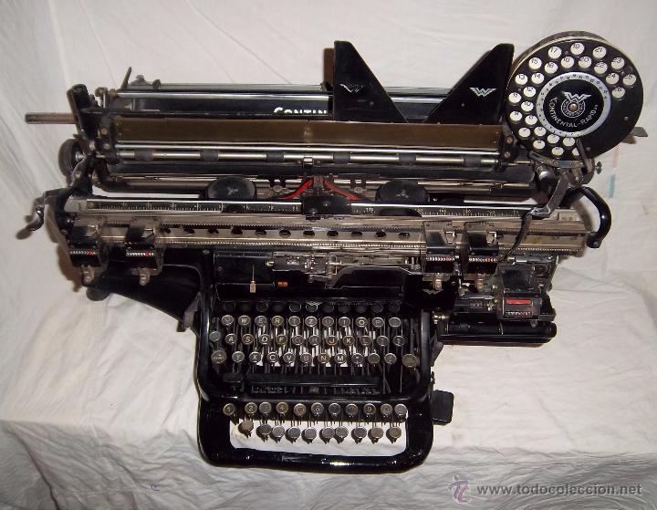Antigüedades: Espectacular máquina de escribir alemana Continental Rapidus (Años 30) - Foto 8 - 54001608
