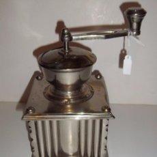 Antigüedades: PRECIOSO MOLINILLO DE CAFÉ ANTIGUO NIQUELADO. Lote 27314463