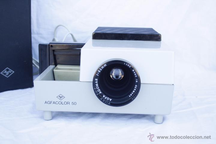 Antigüedades: Proyector AGFA - Agfacolor 50 - Con óptica AGOMAR 85 mm - Made in Germany - Foto 2 - 54049961