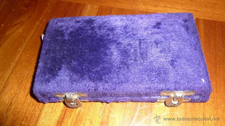 Antigüedades: Antigua bascula de precision . en caja de terciopelo . bronce no tiene pesas plegable - Foto 4 - 54065196