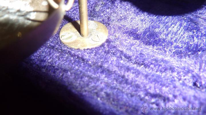 Antigüedades: Antigua bascula de precision . en caja de terciopelo . bronce no tiene pesas plegable - Foto 7 - 54065196