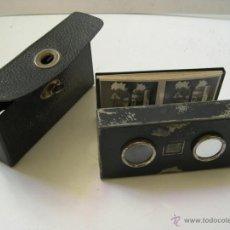 Antigüedades: ANTIGUO VISOR ESTEREOSCOPICO CON 12 VISTAS. Lote 54066174
