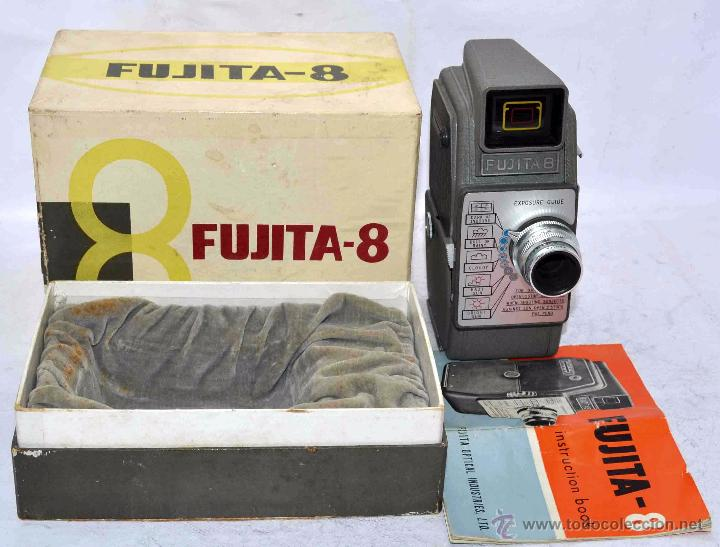 Antigüedades: GRAN CALIDAD..CAMARA DE CINE DE 8 mm..FUJITA 8+CAJA+MANUAL..JAPON 1961..MUY BUEN ESTADO..FUNCIONA - Foto 3 - 54096141