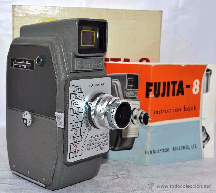 Antigüedades: GRAN CALIDAD..CAMARA DE CINE DE 8 mm..FUJITA 8+CAJA+MANUAL..JAPON 1961..MUY BUEN ESTADO..FUNCIONA - Foto 4 - 54096141