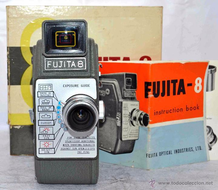 Antigüedades: GRAN CALIDAD..CAMARA DE CINE DE 8 mm..FUJITA 8+CAJA+MANUAL..JAPON 1961..MUY BUEN ESTADO..FUNCIONA - Foto 5 - 54096141