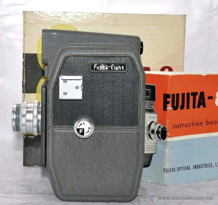Antigüedades: GRAN CALIDAD..CAMARA DE CINE DE 8 mm..FUJITA 8+CAJA+MANUAL..JAPON 1961..MUY BUEN ESTADO..FUNCIONA - Foto 6 - 54096141