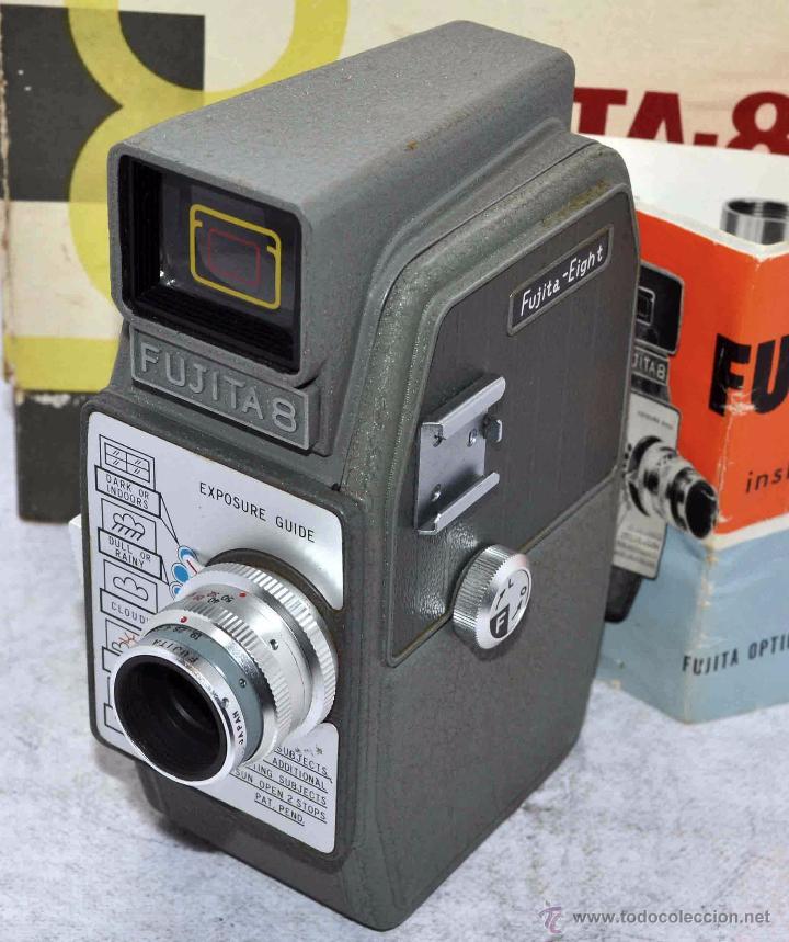 Antigüedades: GRAN CALIDAD..CAMARA DE CINE DE 8 mm..FUJITA 8+CAJA+MANUAL..JAPON 1961..MUY BUEN ESTADO..FUNCIONA - Foto 13 - 54096141