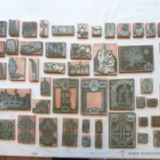 """Antigüedades: 58 PLANCHAS TIPOGRÁFICAS DE ZINC - LIBRO """"VICH Y EL ARTE"""" - ISIDRE IBARS / VIC. Lote 54103313"""