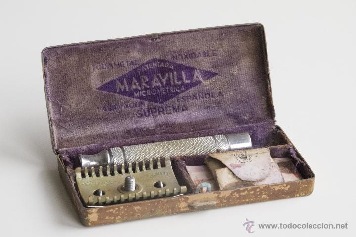 MAQUINILLA DE AFEITAR MARAVILLA - CAJA ORIGINAL (Antigüedades - Técnicas - Barbería - Maquinillas Antiguas)