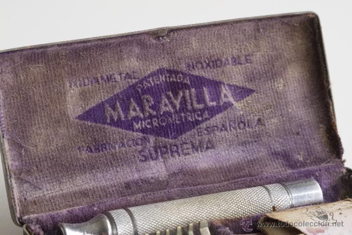 Antigüedades: Maquinilla de afeitar Maravilla - Caja Original - Foto 2 - 54174686