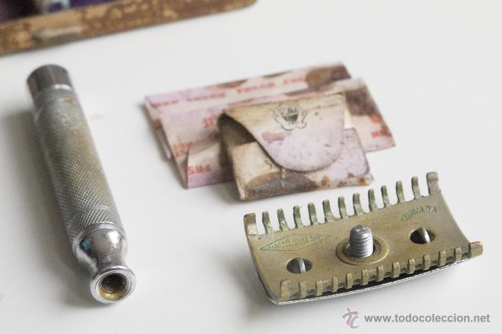 Antigüedades: Maquinilla de afeitar Maravilla - Caja Original - Foto 7 - 54174686
