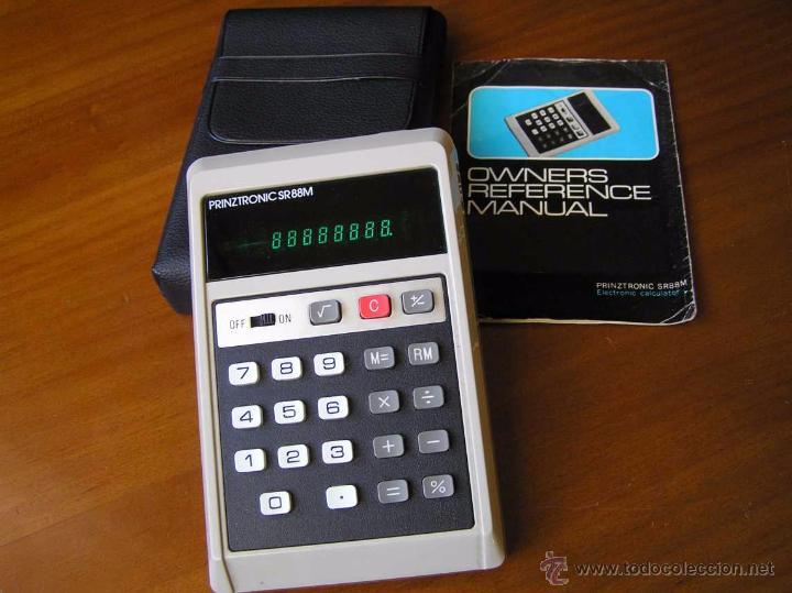 CALCULADORA PRINZTRONIC SR88M AÑOS 70 - CALCULATOR TASCHENRECHNER (Antigüedades - Técnicas - Aparatos de Cálculo - Calculadoras Antiguas)