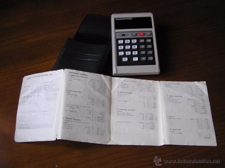 Antigüedades: CALCULADORA PRINZTRONIC SR88M AÑOS 70 - CALCULATOR TASCHENRECHNER - Foto 9 - 54178402