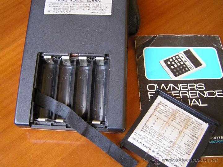 Antigüedades: CALCULADORA PRINZTRONIC SR88M AÑOS 70 - CALCULATOR TASCHENRECHNER - Foto 17 - 54178402