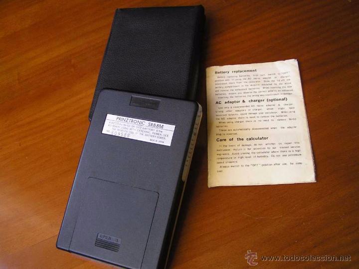 Antigüedades: CALCULADORA PRINZTRONIC SR88M AÑOS 70 - CALCULATOR TASCHENRECHNER - Foto 27 - 54178402