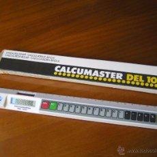 Antigüedades: REGLA CALCULADORA SOLAR CALCUMASTER DEL 1010 EN SU CAJA ORIGINAL. Lote 54179504