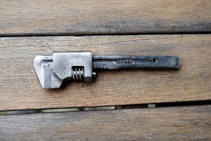 LLAVE INGLESA PEQUEÑA TIPO DESMONTABLE. PARA BICI ANTIGUA CON MARCAS (Antigüedades - Técnicas - Herramientas Profesionales - Mecánica)