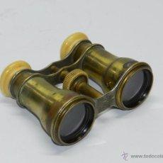 Antigüedades: BINOCULAR DE OPERA PRINCIPIOS DEL SIGLO XX - REALIZADOS EN BRONCE Y HUESO, MIDEN 11 X 8,5 CMS, TAL Y. Lote 54264401