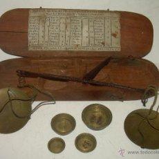 Antigüedades: MUY ANTIGUA Y BONITA BALANZA HIERRO FORJADO PARA PESAR MONEDAS DE ORO Y PLATA.. Lote 54269479