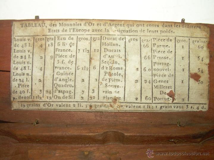 Antigüedades: MUY ANTIGUA Y BONITA BALANZA HIERRO FORJADO PARA PESAR MONEDAS DE ORO Y PLATA. - Foto 3 - 54269479