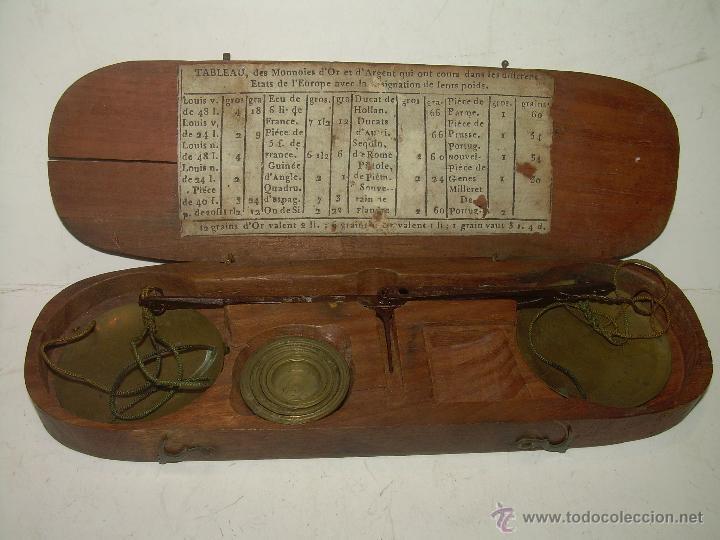 Antigüedades: MUY ANTIGUA Y BONITA BALANZA HIERRO FORJADO PARA PESAR MONEDAS DE ORO Y PLATA. - Foto 4 - 54269479