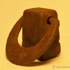 Antigüedades: PESA CATALANA MUY ANTIGUA - PESO 130 GR. PESAS. Lote 54298483