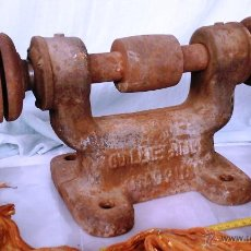 Antigüedades: ESMERIL, AFILADOR, AMOLADORA. DE MESA. PRECIOSA VIEJA MÁQUINA:. Lote 195158253