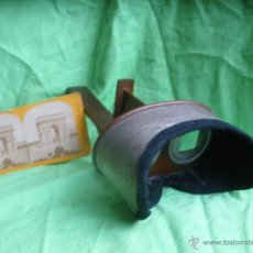 Antigüedades: ANTIGUO VISOR ESTEREOSCOPICO ESTEREOSCOPIO,CON VISTA ESTEREOSCOPICA.. Lote 54380478