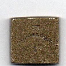 Antigüedades: PESA EN BRONCE S.XIX 1 DOUBLOON,CONTRASTADA. Lote 54399772