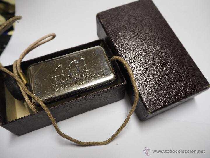 Antigüedades: Antiguo Afilador de Cuchillas con Cuerdas Raro Marca Afil. - Foto 3 - 54403768
