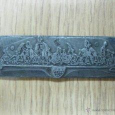 Antigüedades: PLACA METÁLICA DE GRABADO ALEMANA. CIRCA 1880. Lote 54411121