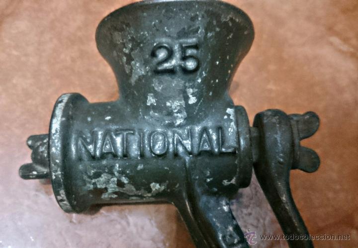 Antigüedades: PICADORA DE CARNE. NATIONAL Nº 25 BRITISH MADE. DIFICIL DE ENCONTRAS. MODELO MUY RARO - Foto 2 - 54431714