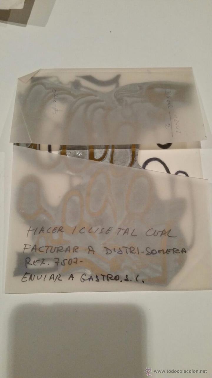 Antigüedades: PLANCHA CLICHÉ NEGATIVO DE METAL VIÑETA PARA DIARIO SUR MALAGA DIBUJO DE DISEÑO ORIGINAL - 17 X 14 - Foto 3 - 54477079